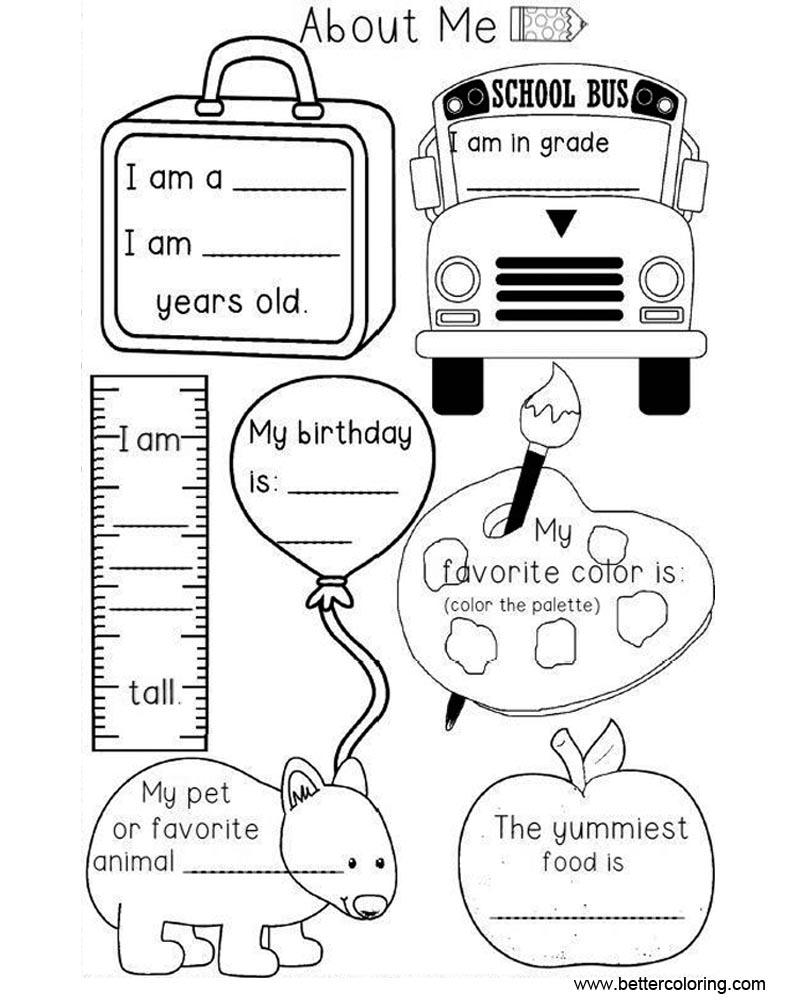 all about me coloring pages - preschool all about me coloring pages worksheets free