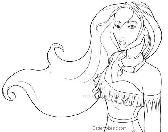 Pocahontas Coloring Page Democraciaejustica
