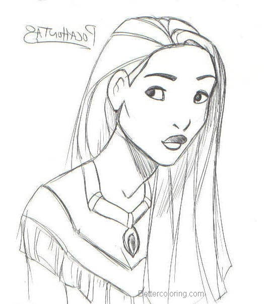 printable pocahontas coloring pages - photo#28