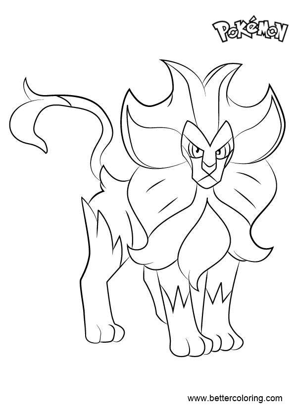 Free Pyroar from Pokemon Coloring Pages printable
