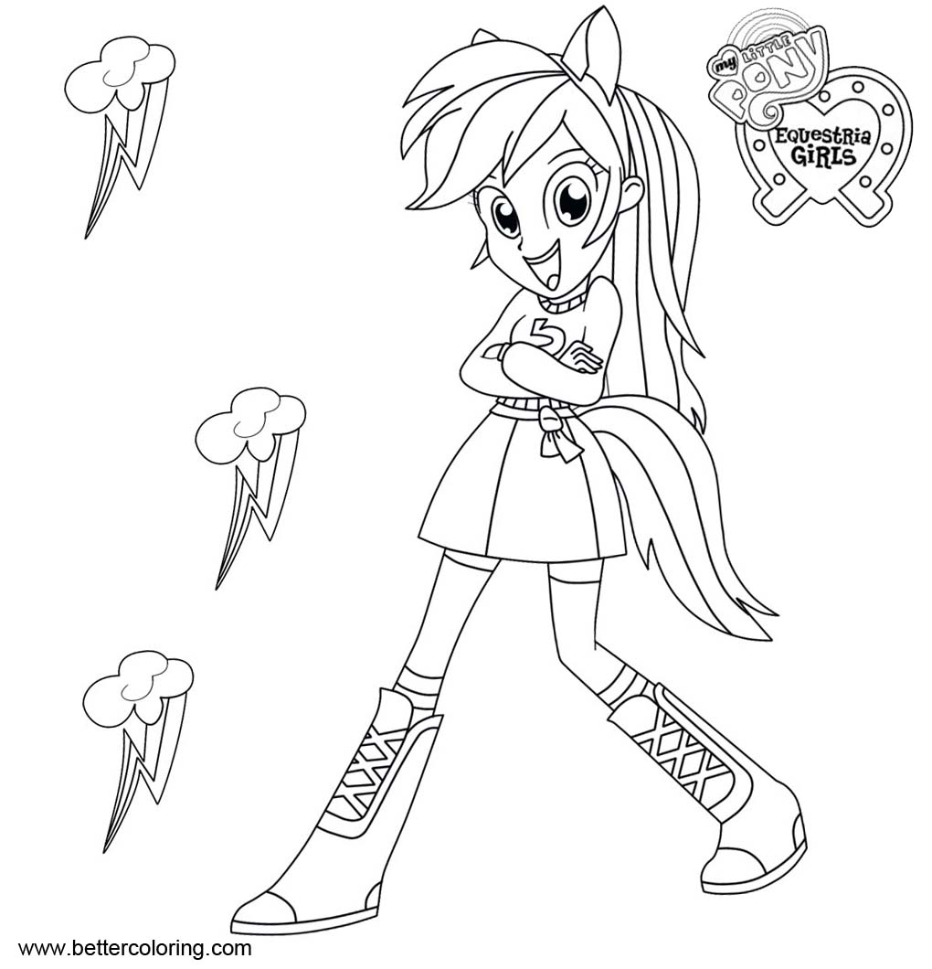 Rainbow Dash from My Little Pony Equestria Girls Coloring Pages ...