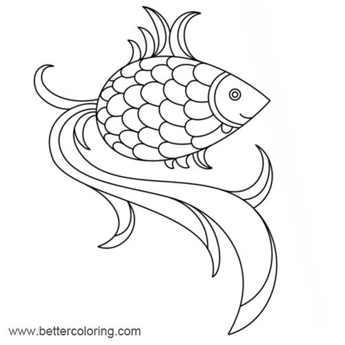 rainbow fish free coloring pages | Rainbow Fish Coloring Pages Black and White - Free ...