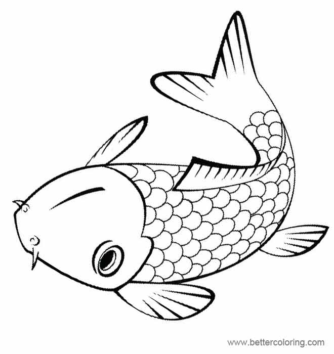 Rainbow Fish Coloring Pages Carp