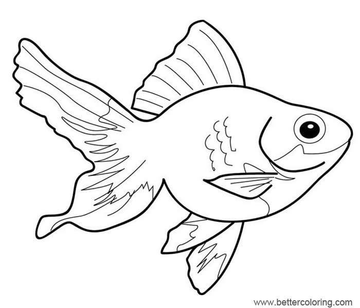 Free Rainbow Fish Coloring Pages Goldfish printable