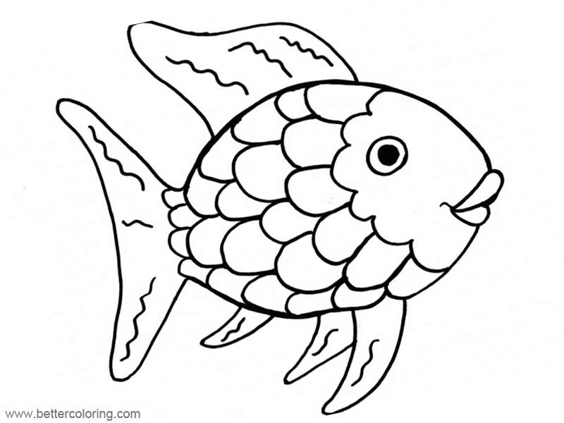 Rainbow Fish Coloring Pages - Free Printable Coloring Pages