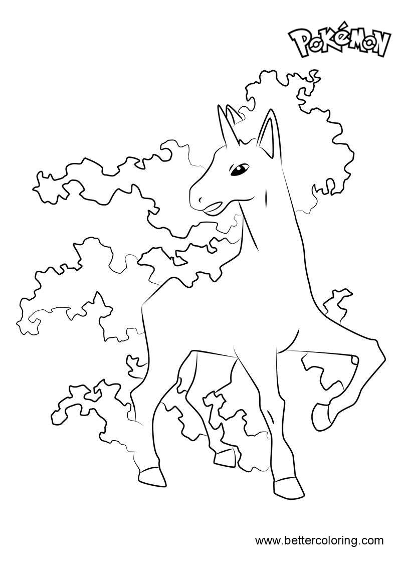 Rapidash from Pokemon Coloring
