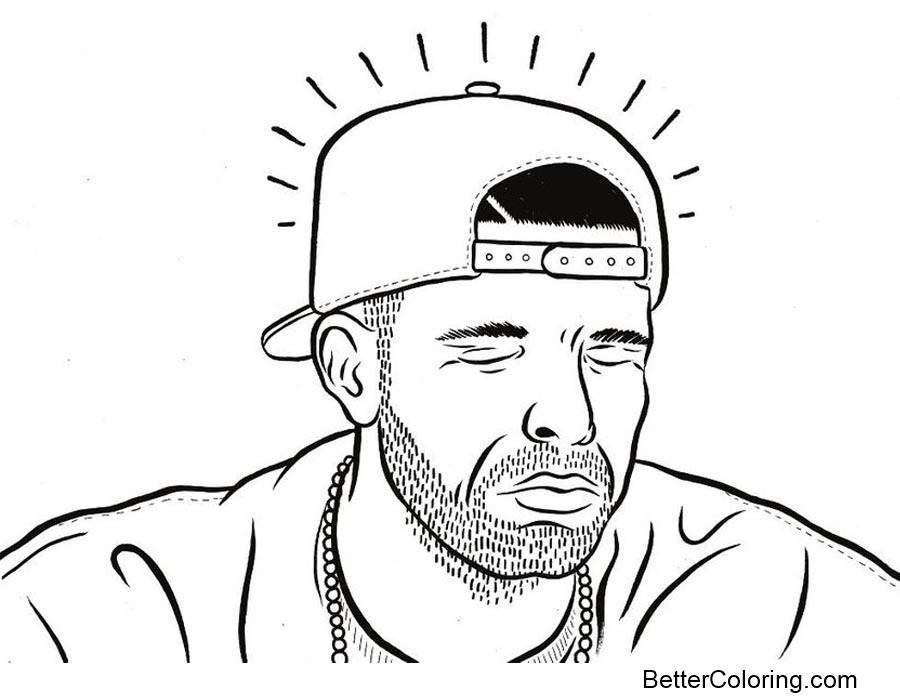 Free Rapper Drake Coloring Pages printable