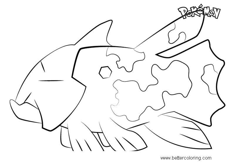 photo regarding Pokemon Coloring Pages Free Printable named Relicanth versus Pokemon Coloring Webpages - Absolutely free Printable