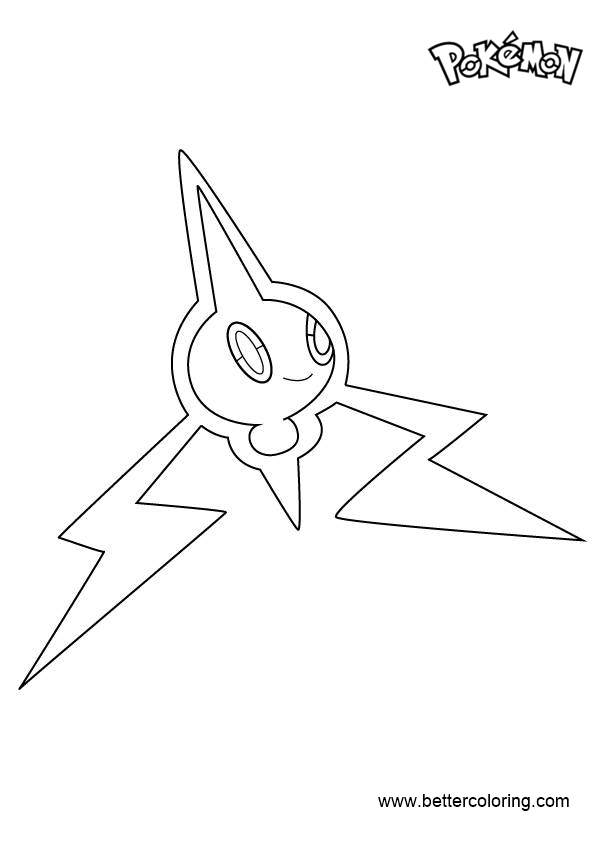 Free Rotom from Pokemon Coloring Pages printable