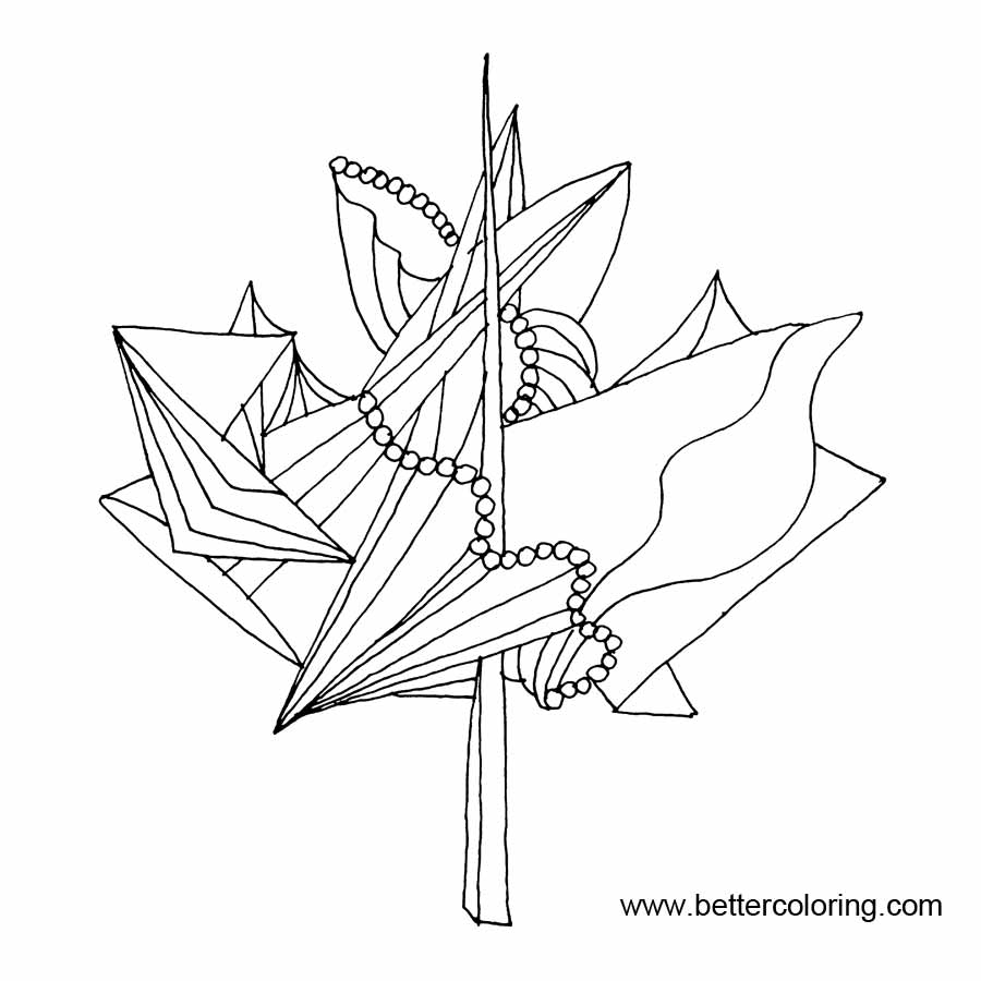 September Coloring Pages Canadian Maple Leaf - Free Printable ...
