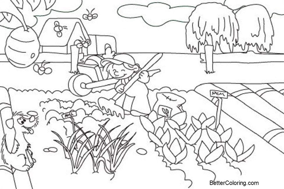 September Coloring Pages Farm Lineartl - Free Printable Coloring Pages