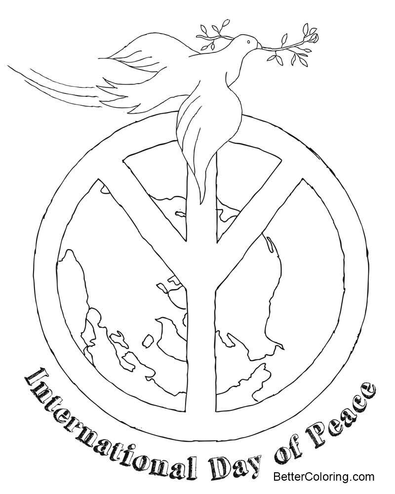 September Coloring Pages International Peace Day 9 21 - Free ...