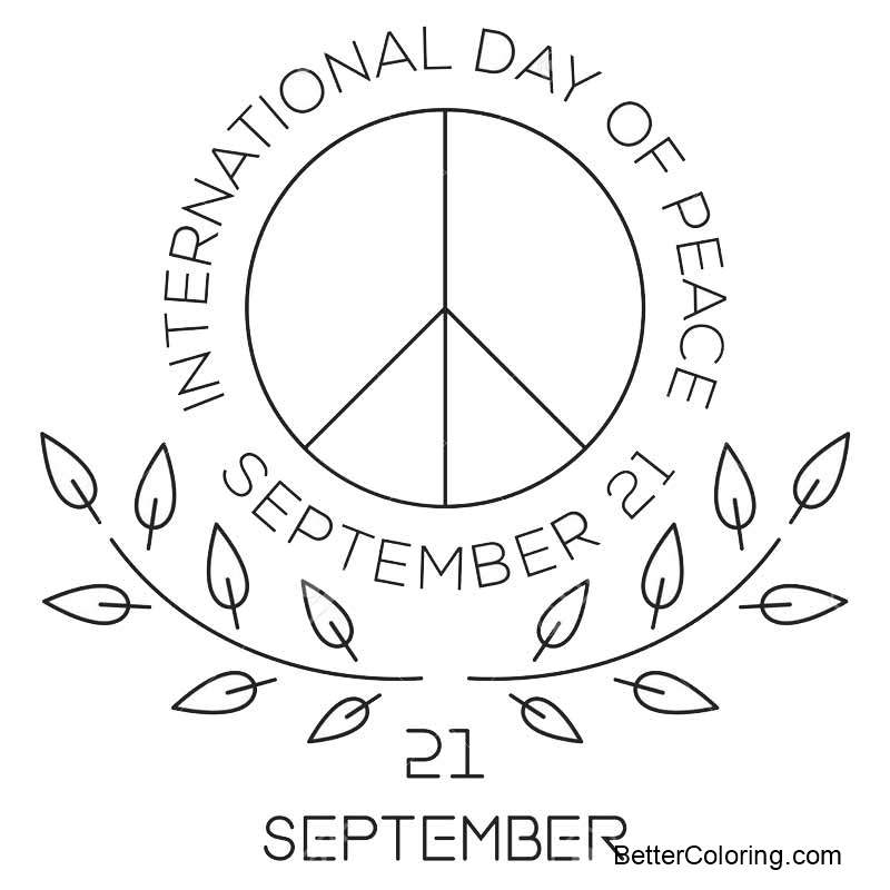 September Coloring Pages World Peace Day Logo September 21 ...