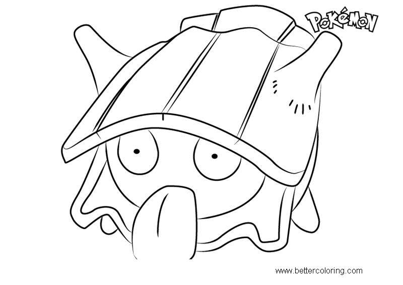 Free Shellder from Pokemon Coloring Pages printable