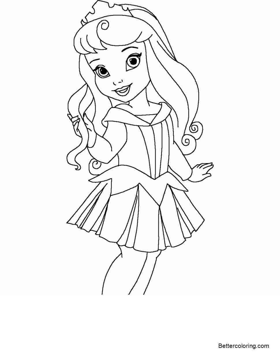 Free Simple Cute Baby Princess Coloring Pages printable