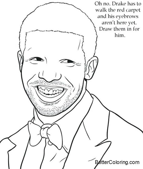 Free Smile Drake Coloring Pages printable