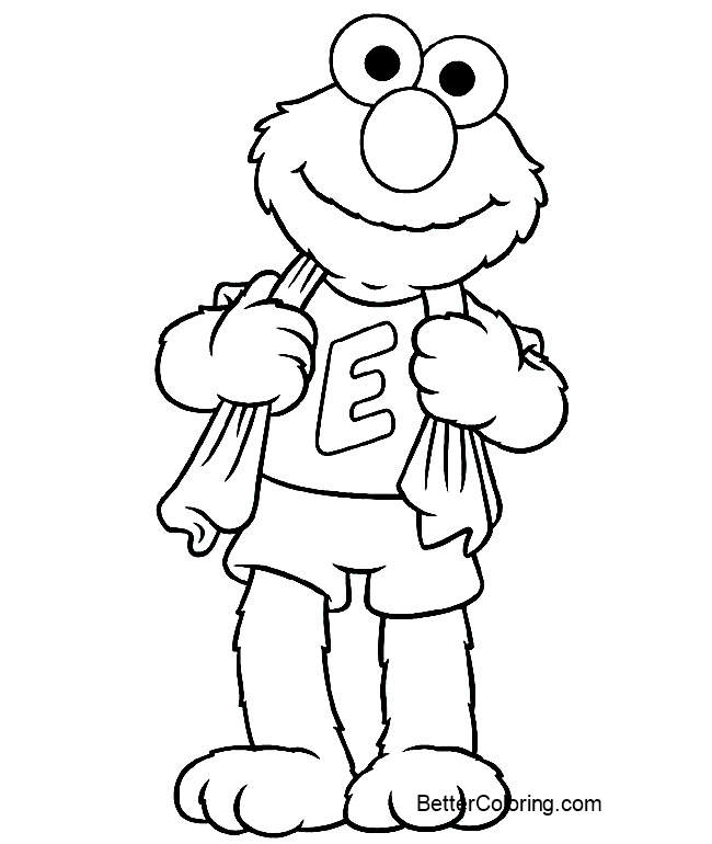 sports elmo coloring pages free printable coloring pages. Black Bedroom Furniture Sets. Home Design Ideas