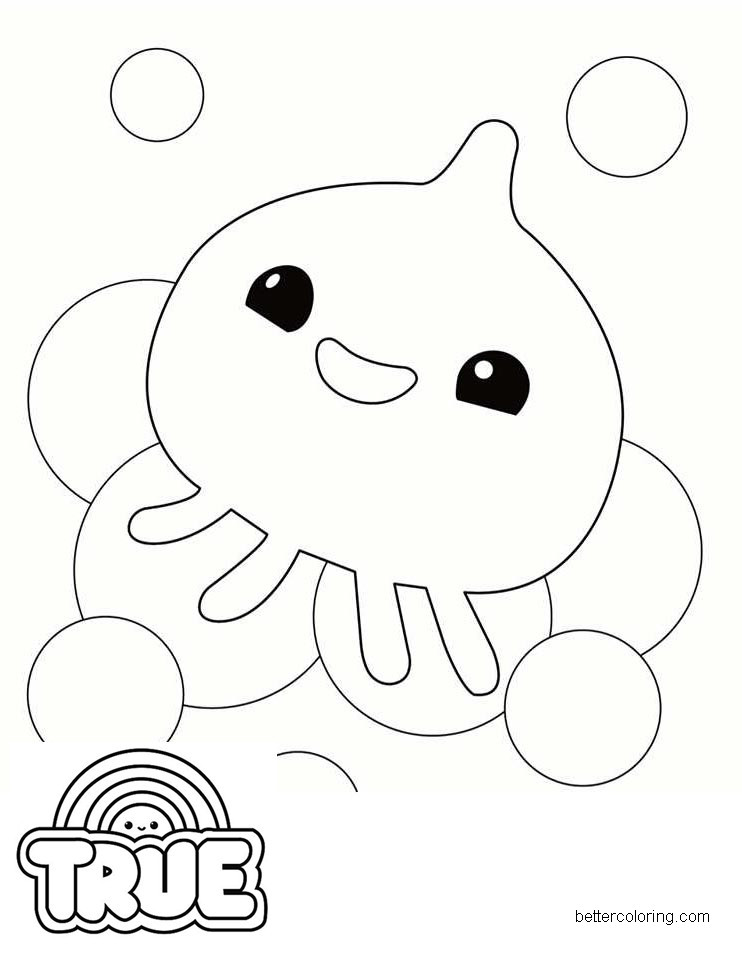 Free Squidzy from True and the Rainbow Kingdom Coloring Pages printable