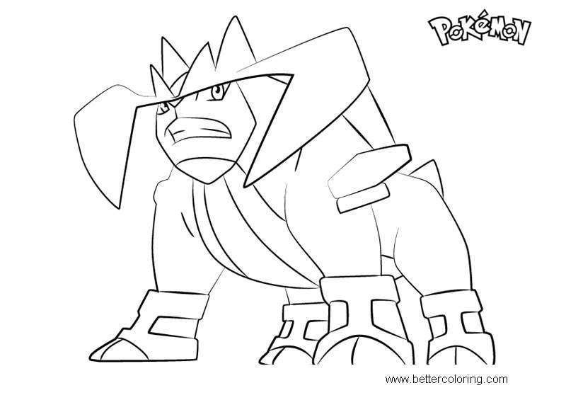 Free Terrakion from Pokemon Coloring Pages printable