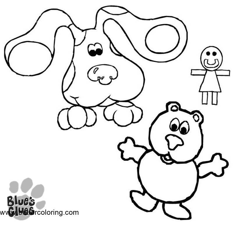 Free Toys from Blue's Clues Coloring Pages printable