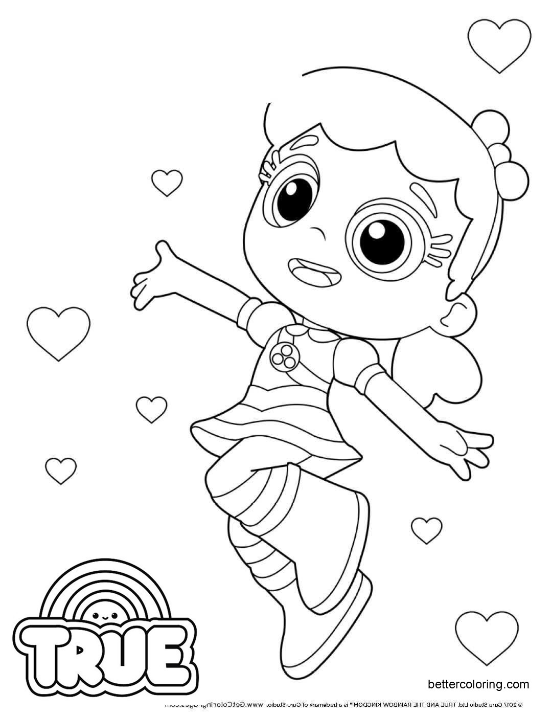 Free True and the Rainbow Kingdom Coloring Pages Clip Art printable