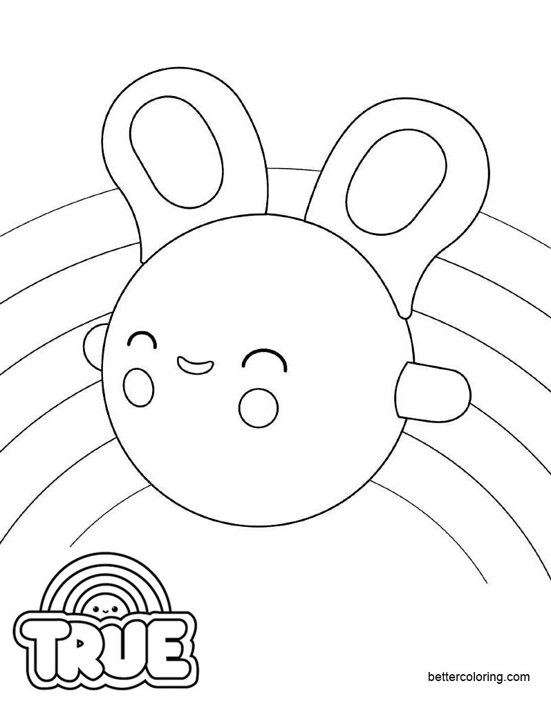 Free True and the Rainbow Kingdom Coloring Pages Hearya printable