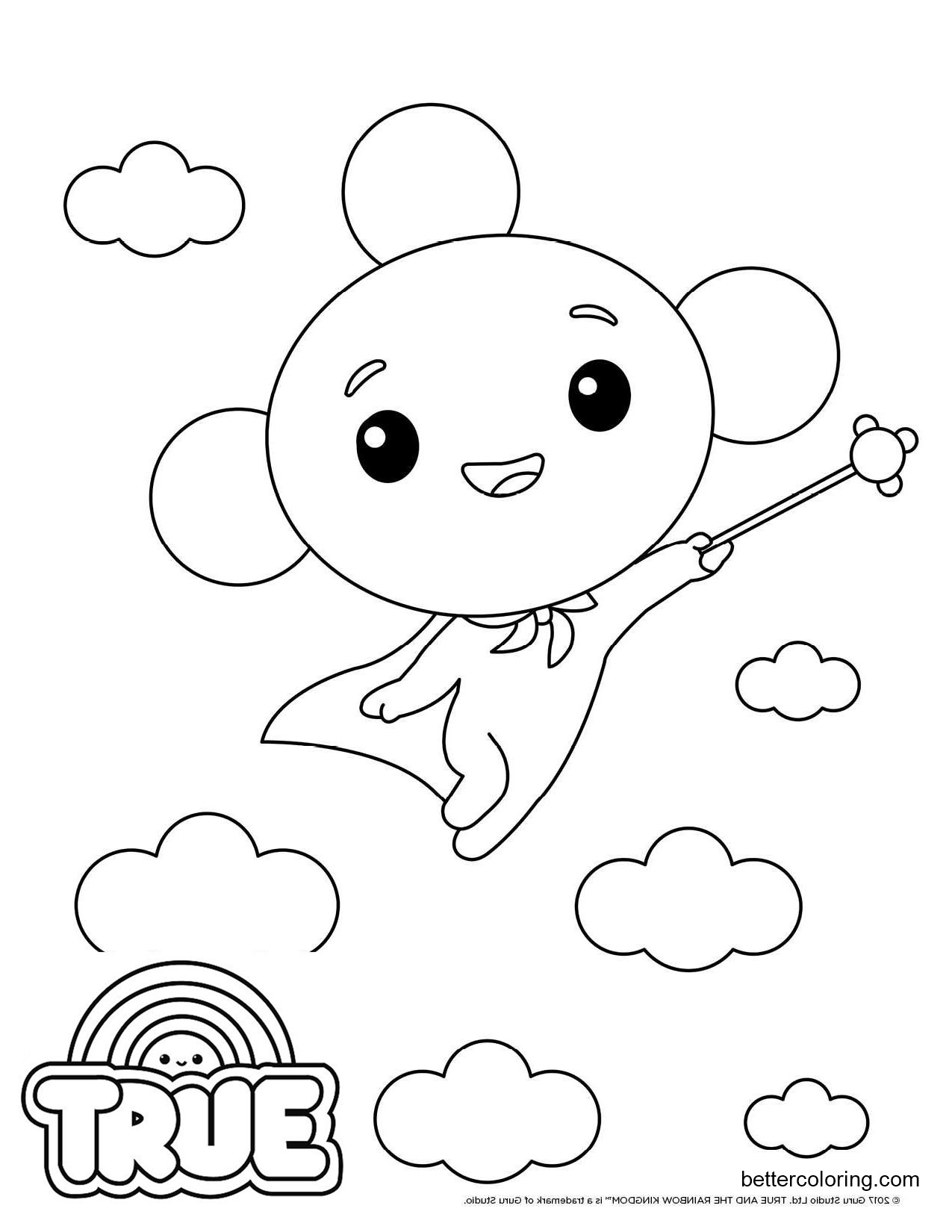 Free True and the Rainbow Kingdom Coloring Pages Rainbow King Outline printable