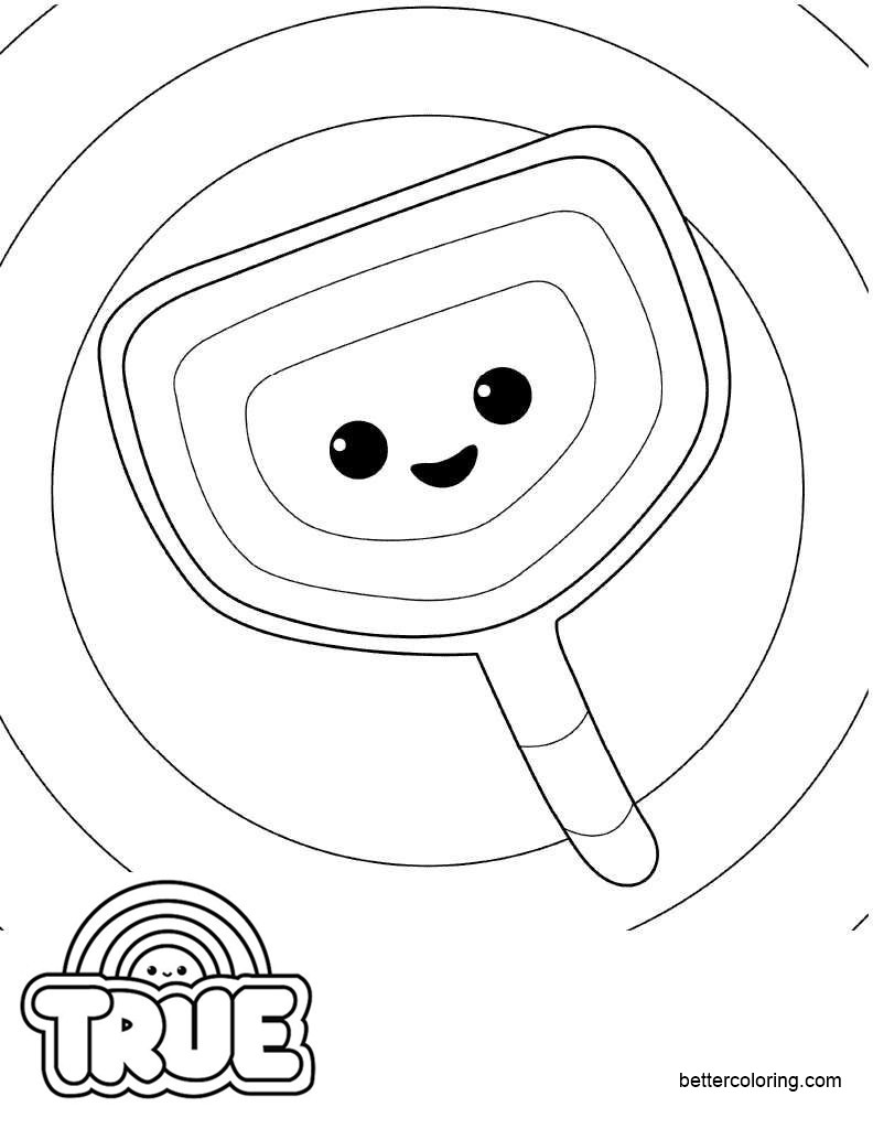 Free True and the Rainbow Kingdom Coloring Pages Roper Roo printable