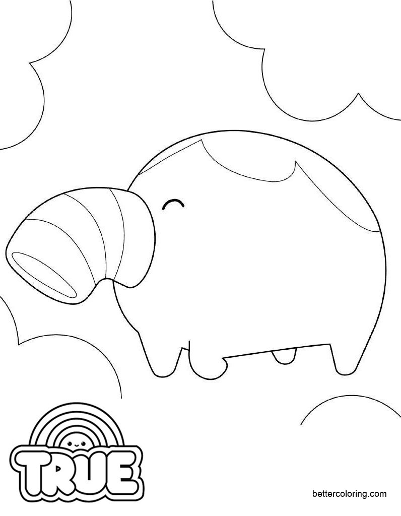 Free True and the Rainbow Kingdom Coloring Pages Snorfle printable