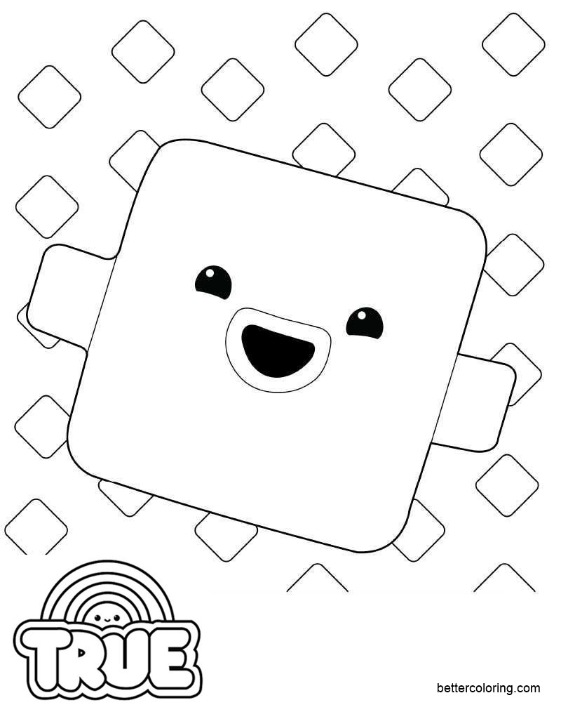 Free True and the Rainbow Kingdom Coloring Pages The Wishes printable