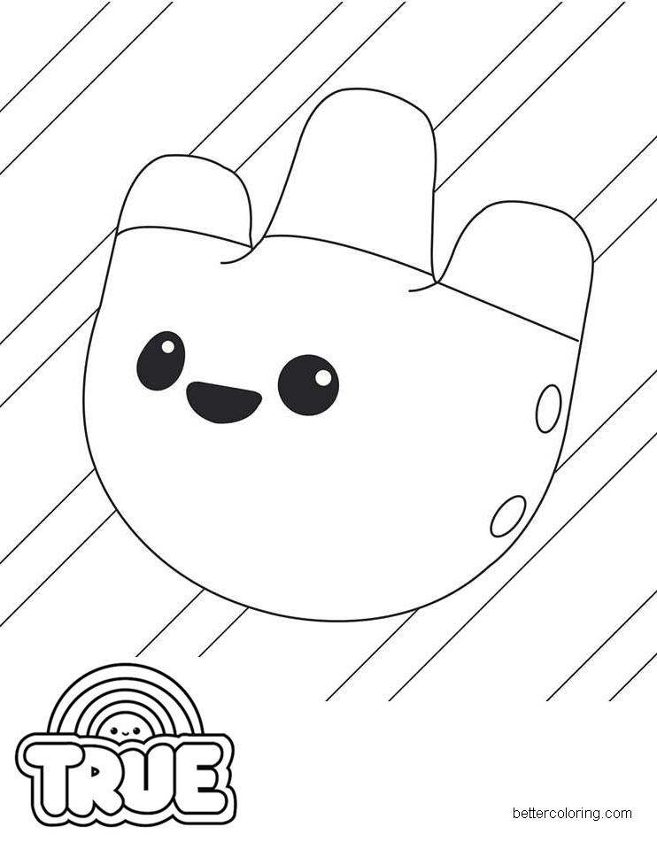 Free True and the Rainbow Kingdom Coloring Pages Tisway printable