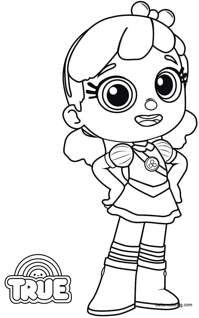 Free True and the Rainbow Kingdom Coloring Pages printable