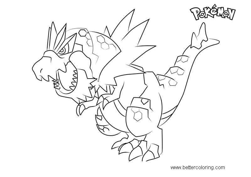 Free Tyrantrum from Pokemon Coloring Pages printable
