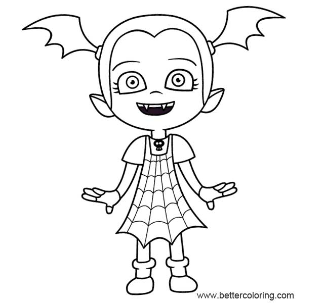 Vampirina Coloring Pages Outline Image Free Printable
