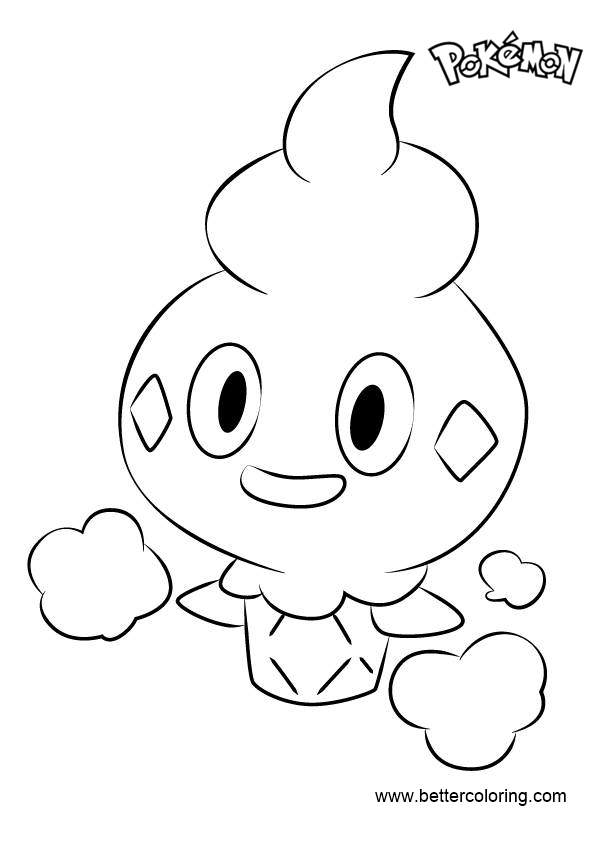 Free Vanillite from Pokemon Coloring Pages printable