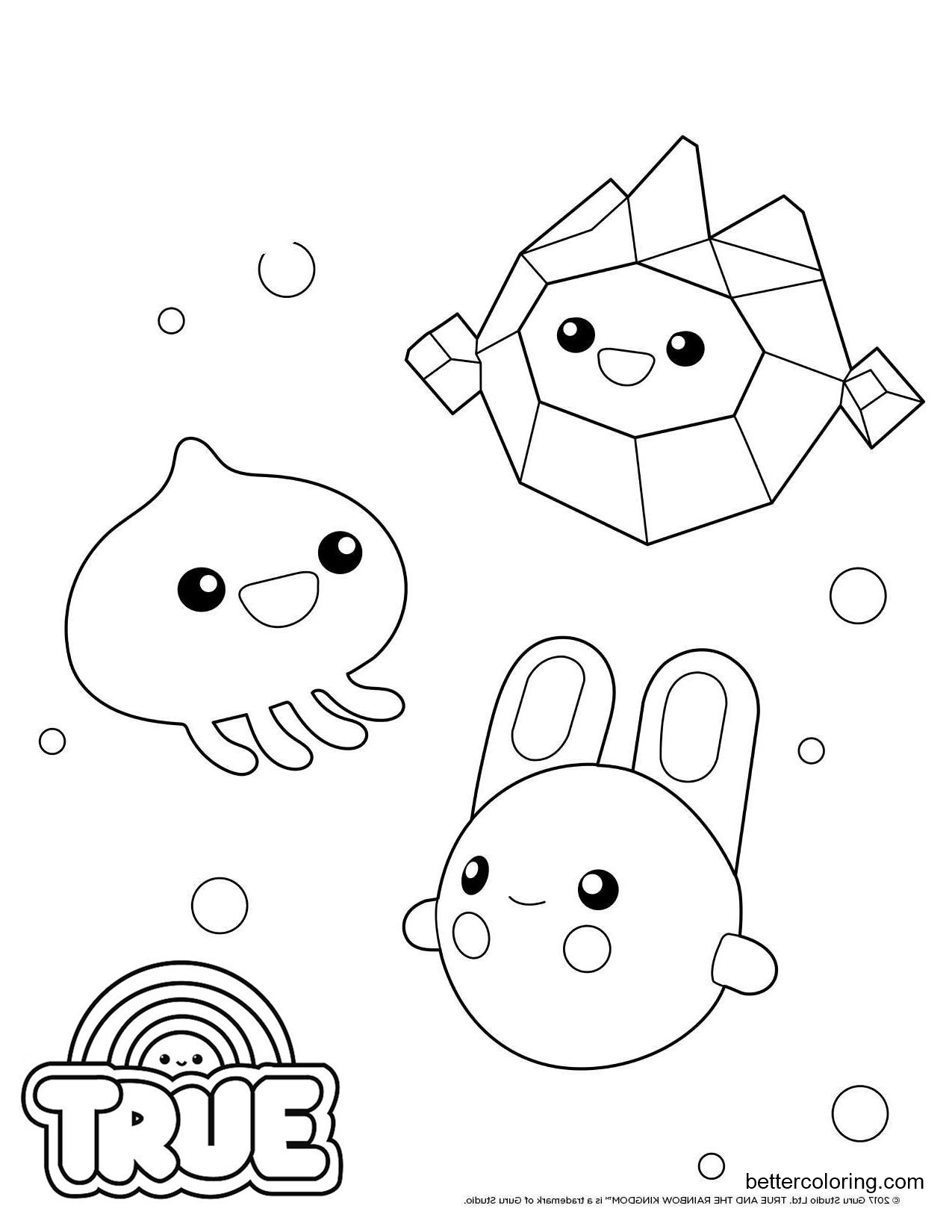 Free Wishes from True and the Rainbow Kingdom Coloring Pages printable
