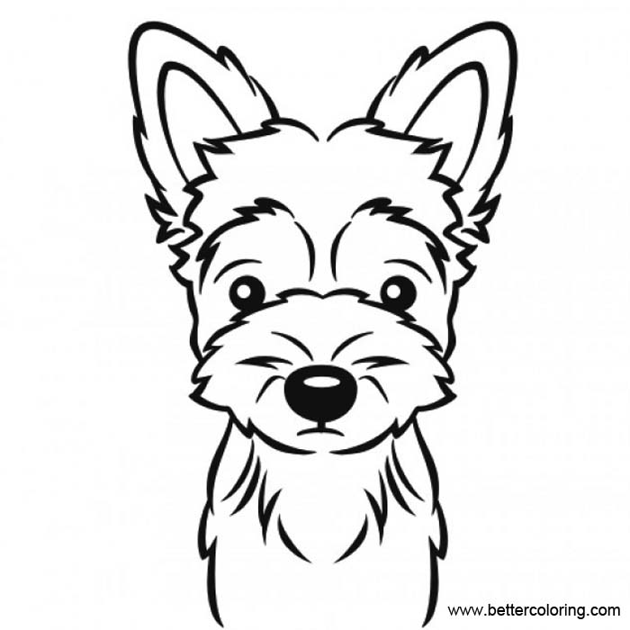 yourkie doags coloring pages | Yorkie Coloring Pages Black and White - Free Printable ...