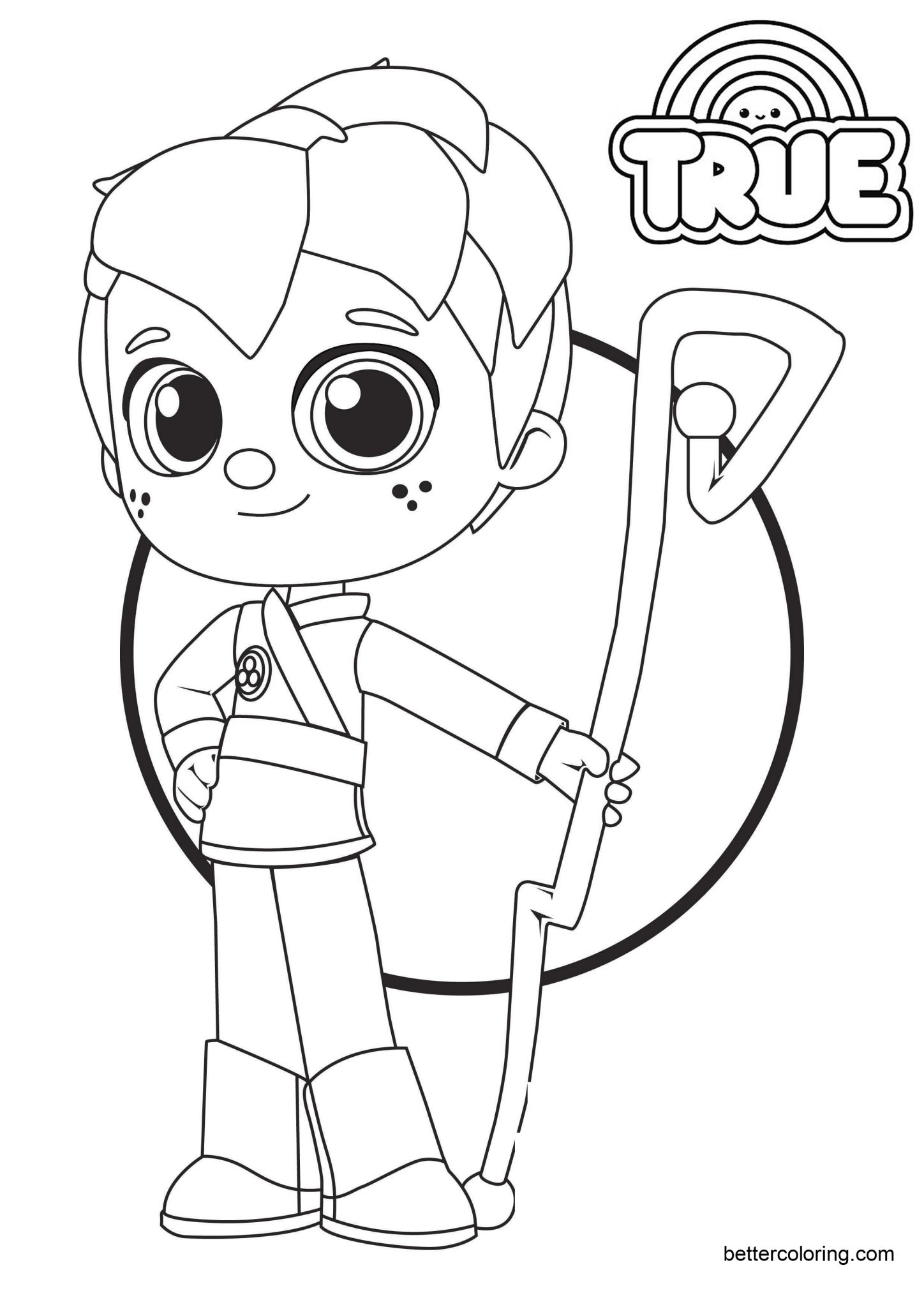 Zee From True And The Rainbow Kingdom Coloring Pages