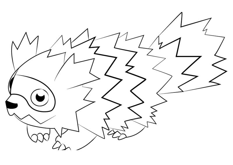 Free Zigzagoon from Pokemon Coloring Pages printable