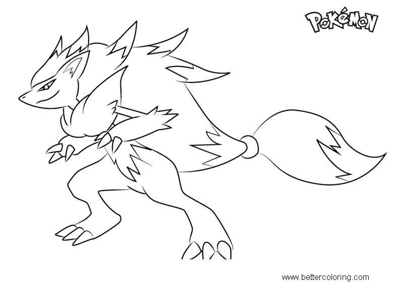 Free Zoroark from Pokemon Coloring Pages printable