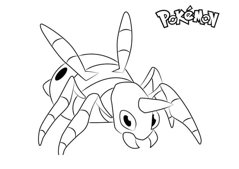 photograph about Pokemon Coloring Pages Free Printable identify Ariados towards Pokemon Coloring Webpages - No cost Printable