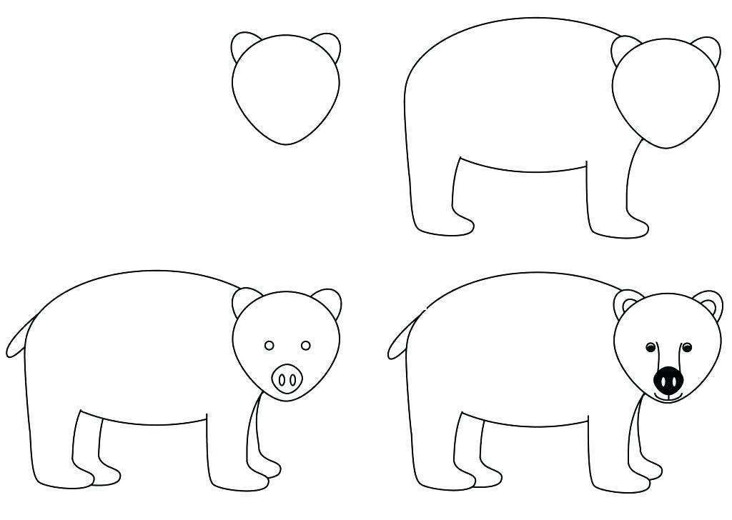 Free Brown Bear Brown Bear Coloring Pages Drawing Tutorial Step by Step printable