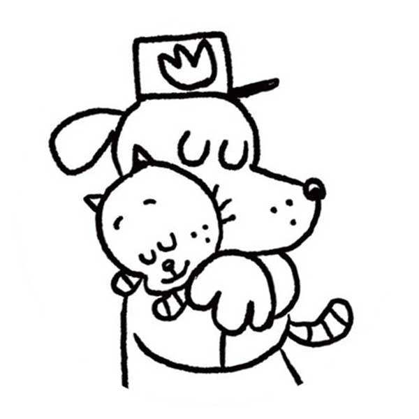 Dog man and cat kid coloring pages ~ Dog Man Coloring Pages and Cat - Free Printable Coloring Pages