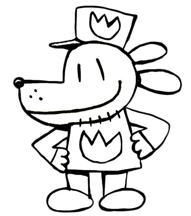 Free Free Dog Man Coloring Pages printable