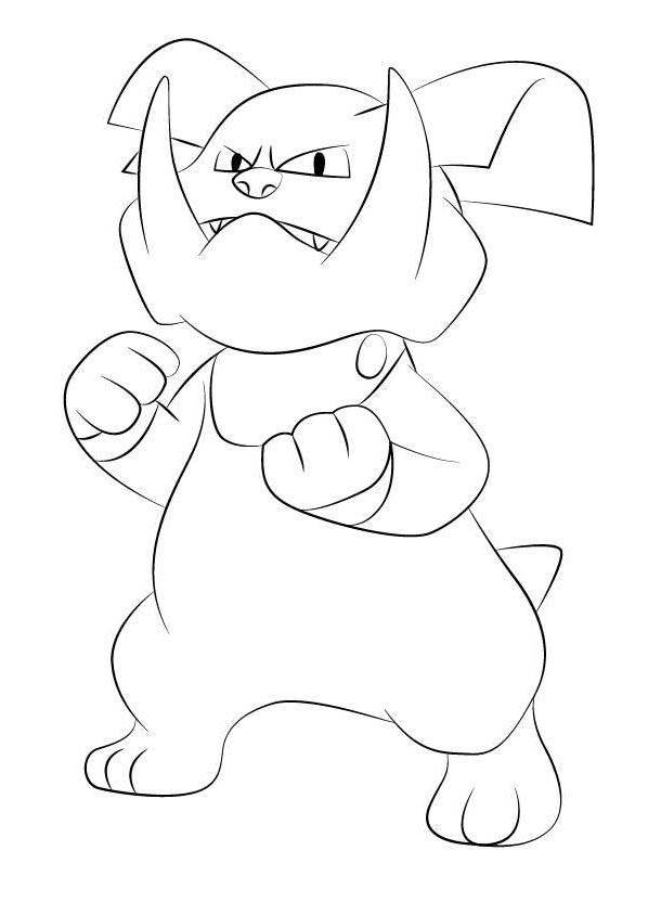 Free Granbull from Pokemon Coloring Pages printable