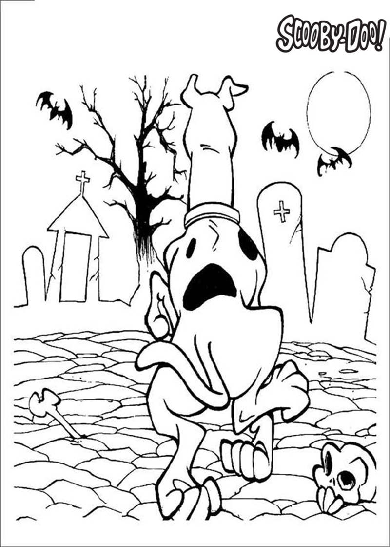 It is a picture of Crazy scooby doo halloween coloring pages