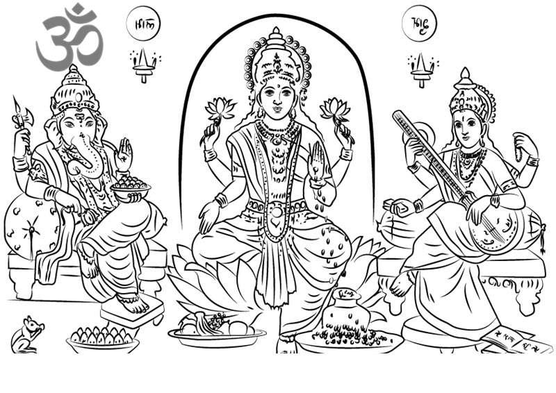 Saraswati Coloring Pages - Democraciaejustica