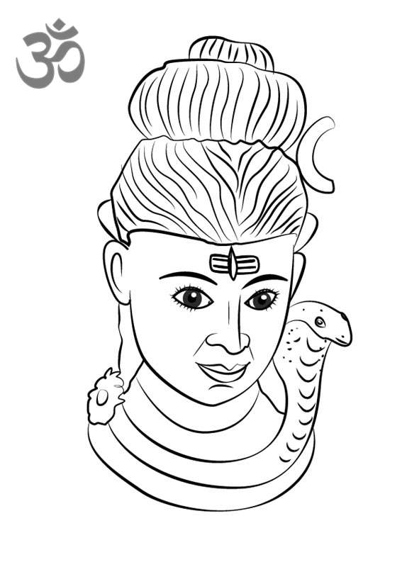 Free Hinduism Coloring Pages Lord Shiva Statue Printable printable