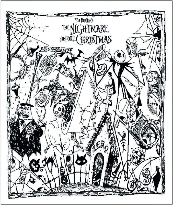 Free Jack Skellington Coloring Pages Nightmare Before Christmas Pictures printable