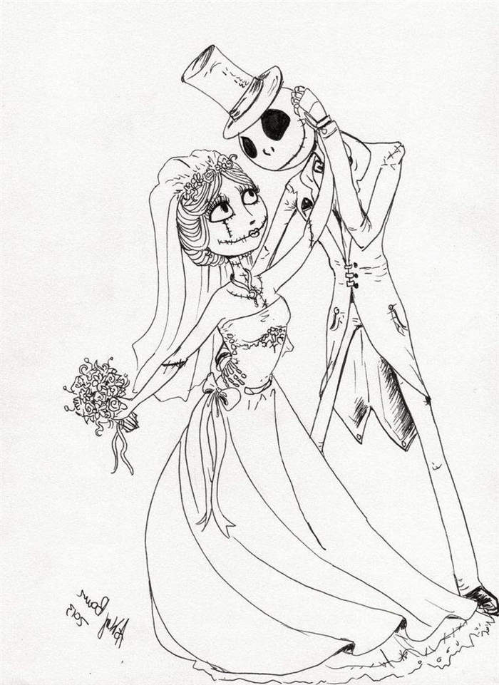 Jack Skellington Nightmare Before Christmas Coloring Pages Free